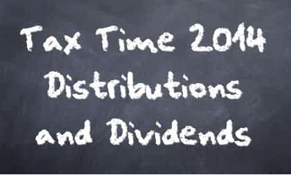 Dividends & Distributions Chalkboard